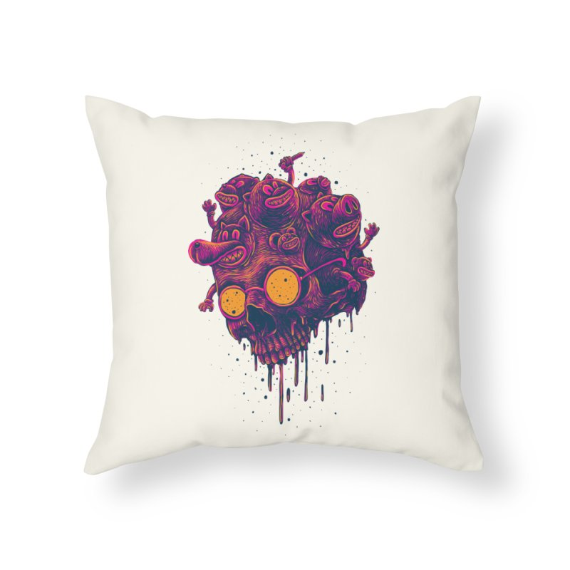 The freakout Home Throw Pillow by David Maclennan
