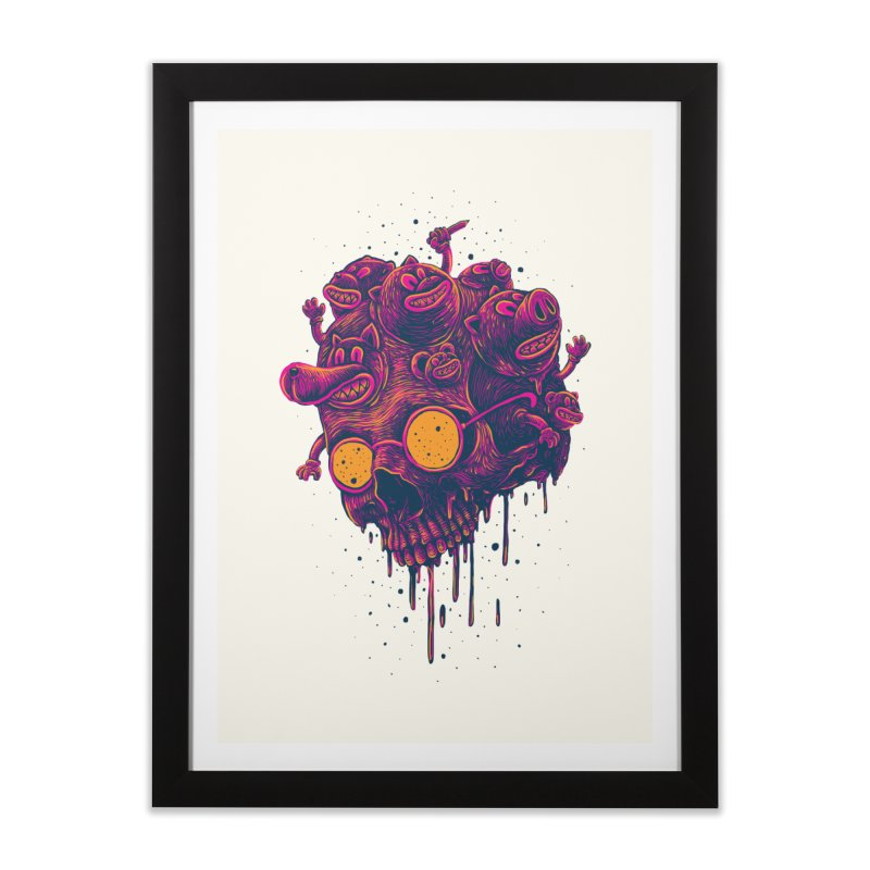 The freakout Home Framed Fine Art Print by David Maclennan