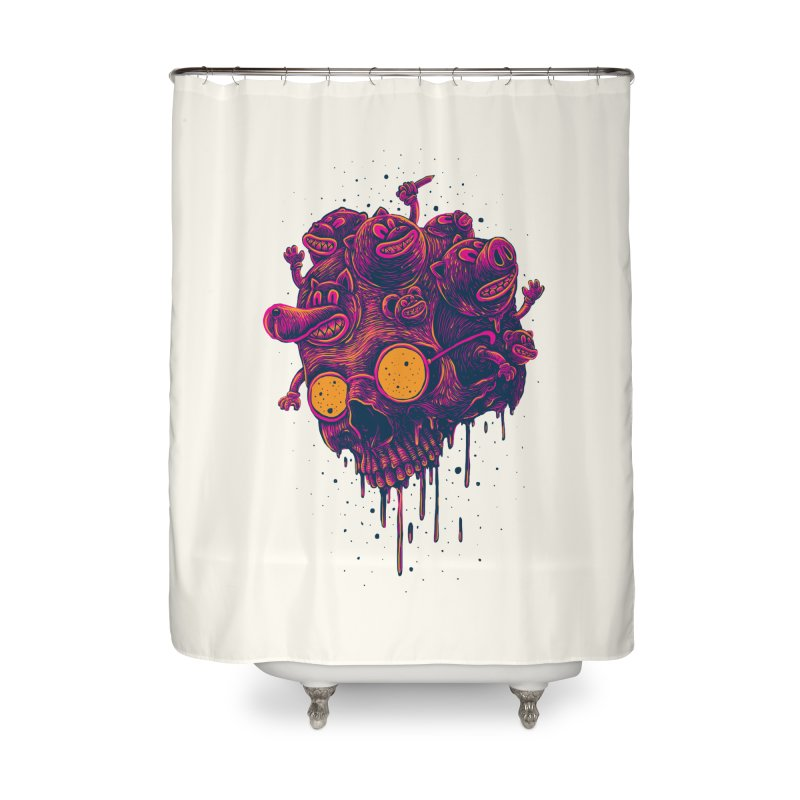 The freakout Home Shower Curtain by David Maclennan