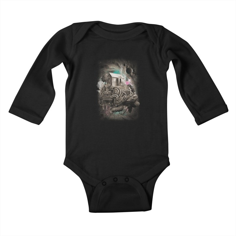 Home Kids Baby Longsleeve Bodysuit by David Maclennan