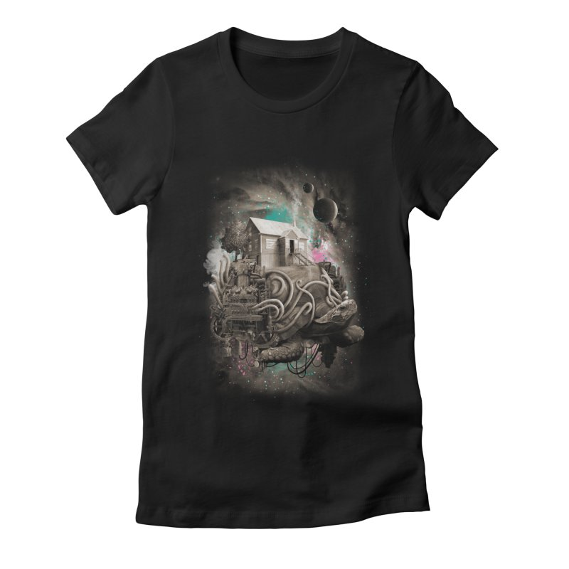 Home Women's Fitted T-Shirt by David Maclennan