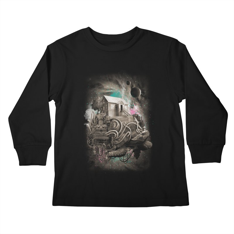 Home Kids Longsleeve T-Shirt by David Maclennan