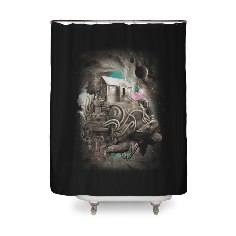 Home Home Shower Curtain by David Maclennan
