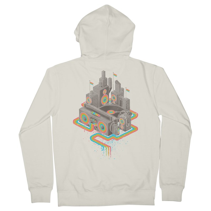 Funk City Men's French Terry Zip-Up Hoody by David Maclennan