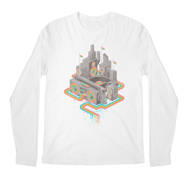 Funk City Men's Longsleeve T-Shirt by David Maclennan