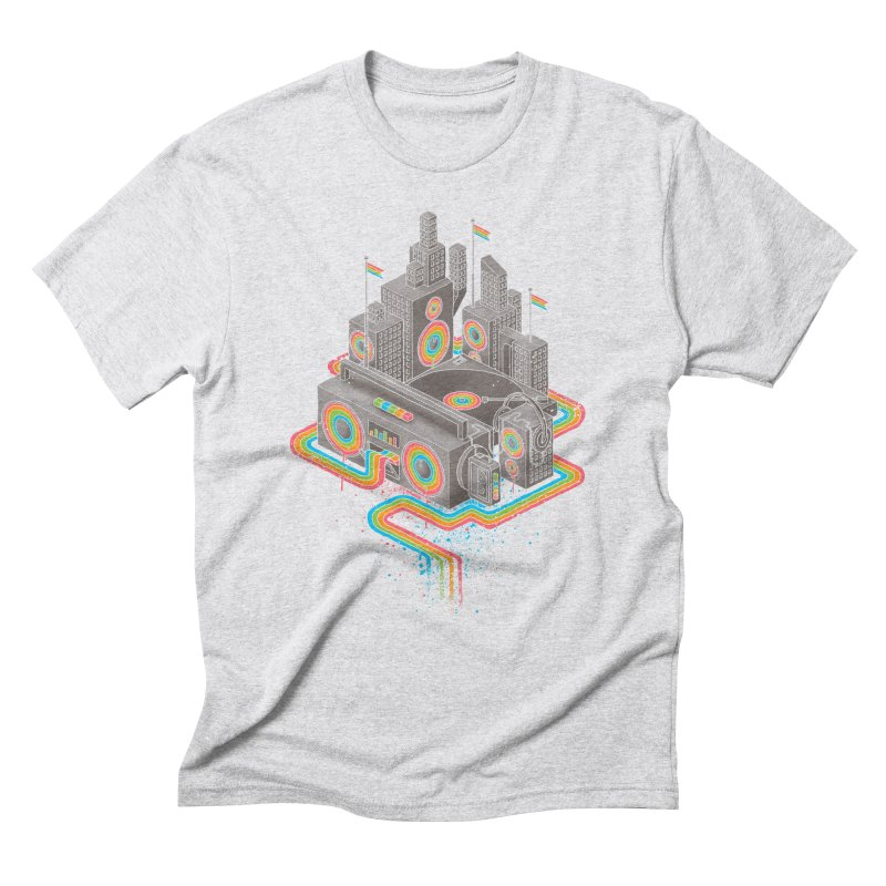 Funk City Men's Triblend T-Shirt by David Maclennan