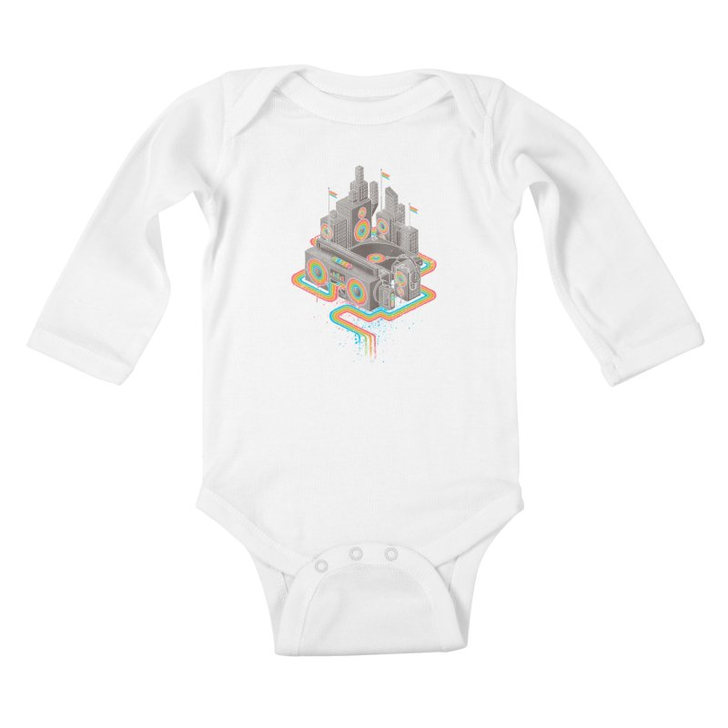 Funk City Kids Baby Longsleeve Bodysuit by David Maclennan