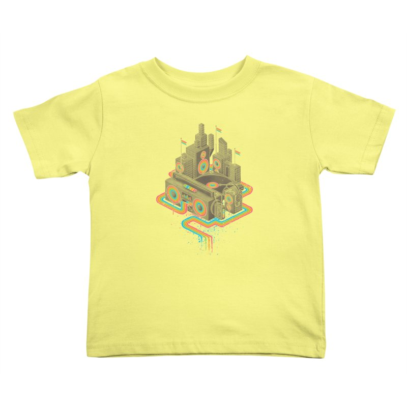 Funk City Kids Toddler T-Shirt by David Maclennan