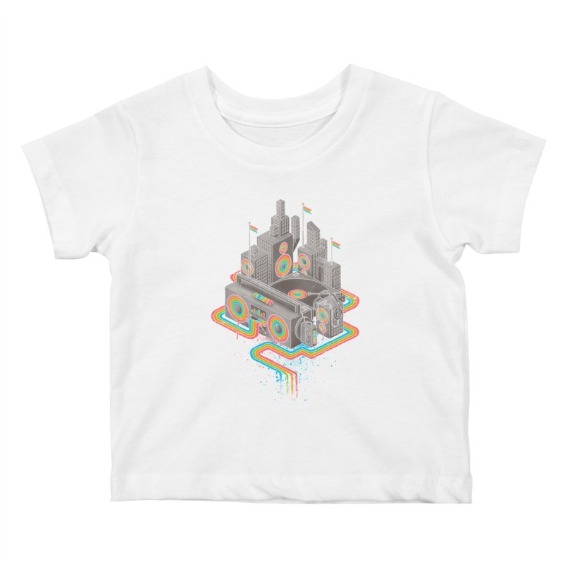 Funk City Kids Baby T-Shirt by David Maclennan