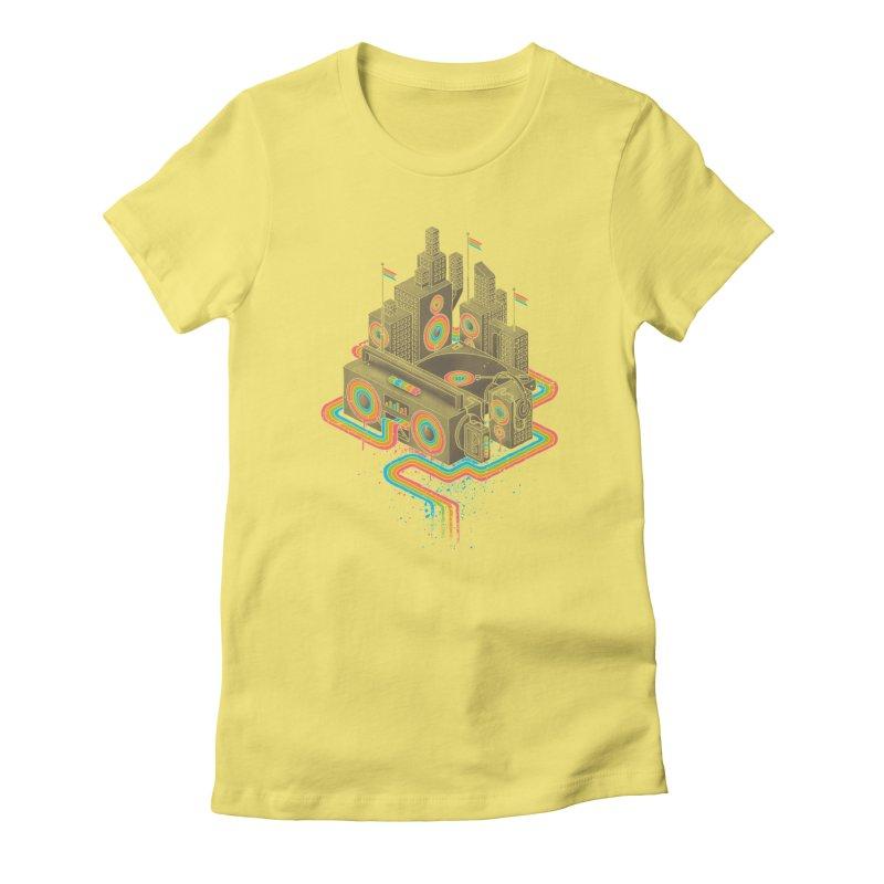 Funk City Women's T-Shirt by David Maclennan