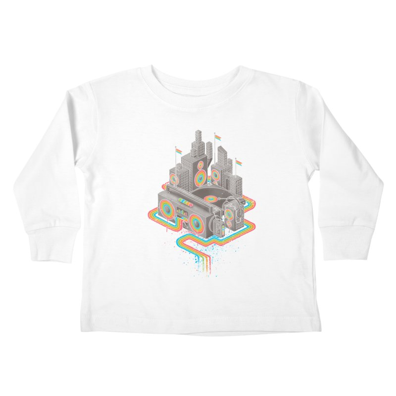Funk City Kids Toddler Longsleeve T-Shirt by David Maclennan