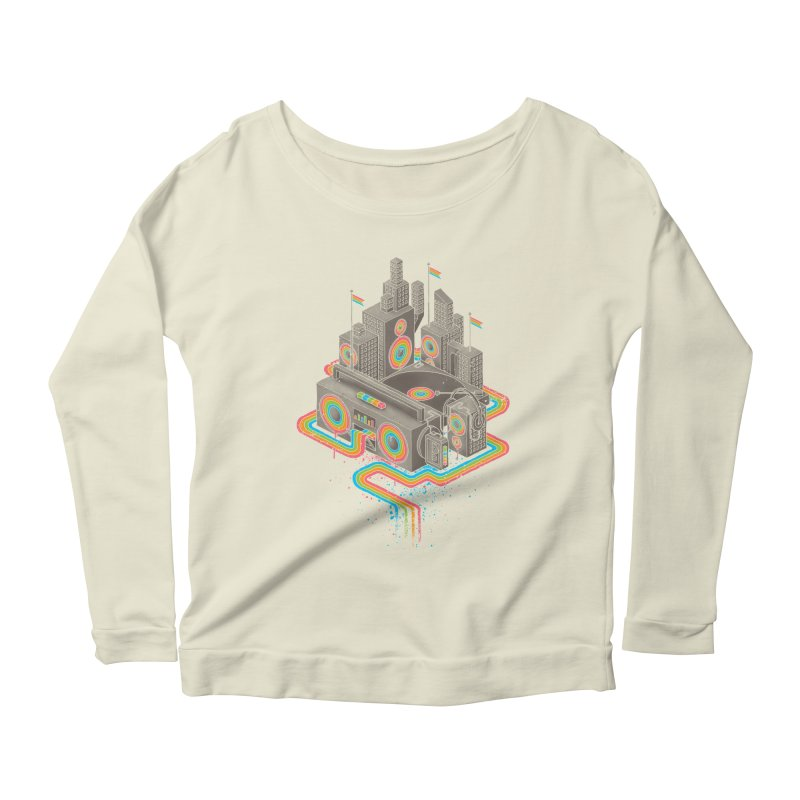 Funk City Women's Scoop Neck Longsleeve T-Shirt by David Maclennan