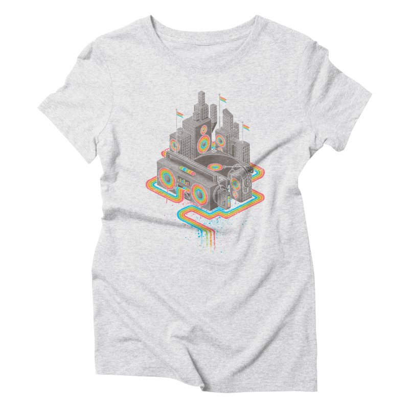 Funk City Women's Triblend T-Shirt by David Maclennan