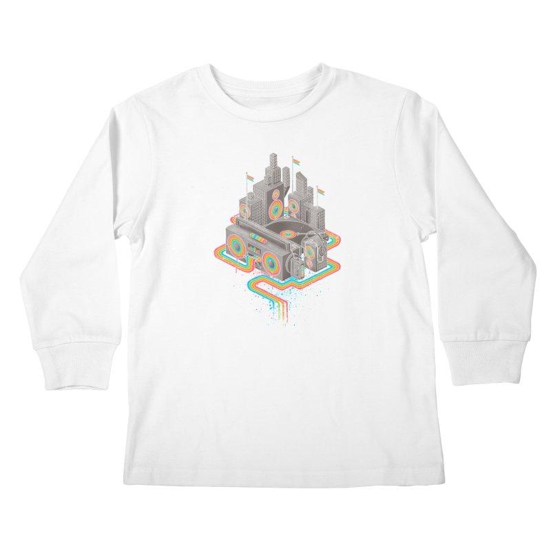 Funk City Kids Longsleeve T-Shirt by David Maclennan