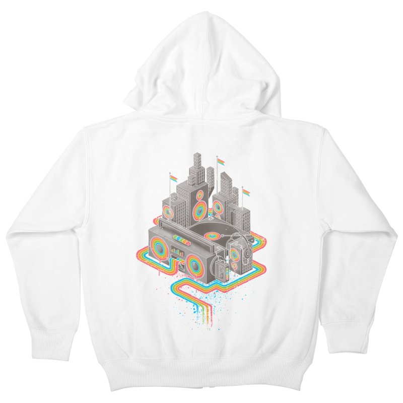 Funk City Kids Zip-Up Hoody by David Maclennan