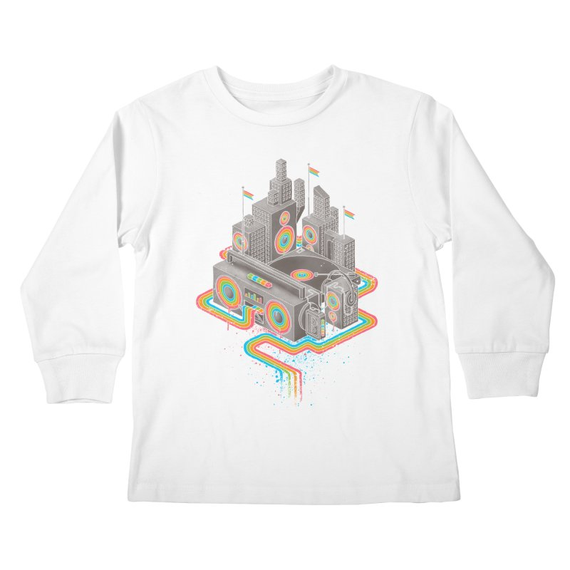 Funk City Kids Longsleeve T-Shirt by David Maclennan