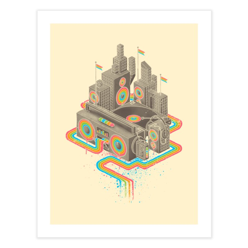Funk City Home Fine Art Print by David Maclennan