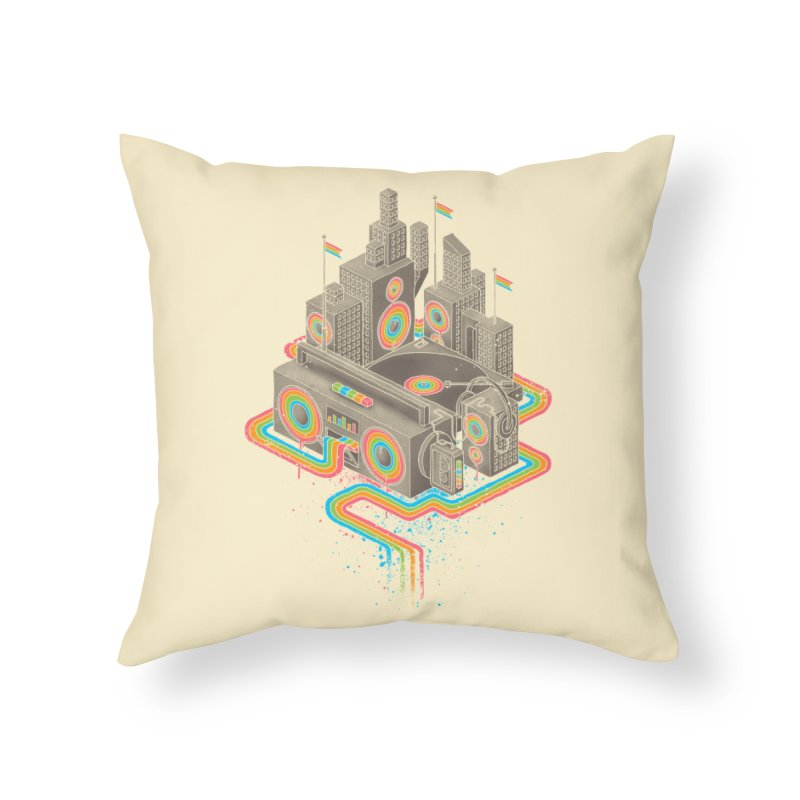 Funk City Home Throw Pillow by David Maclennan