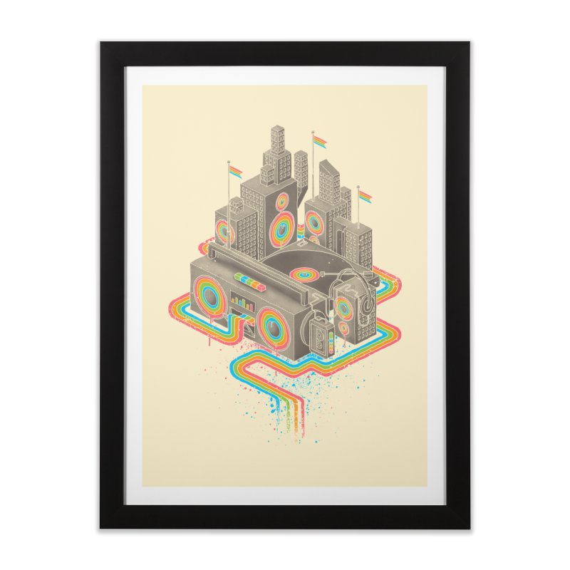 Funk City Home Framed Fine Art Print by David Maclennan