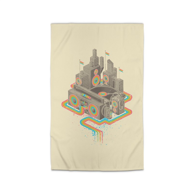 Funk City Home Rug by David Maclennan
