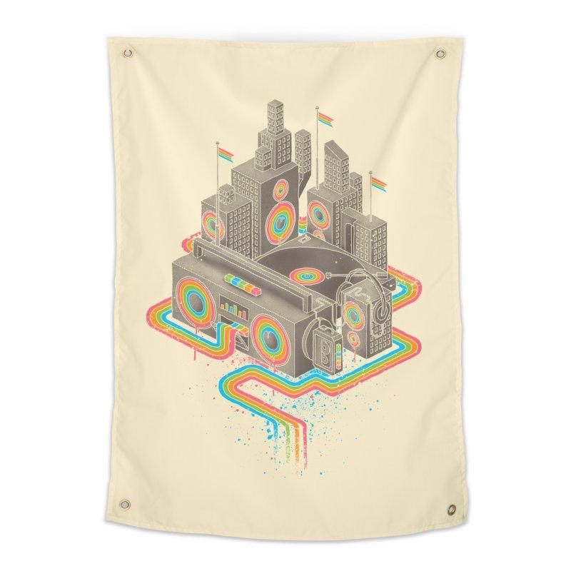 Funk City Home Tapestry by David Maclennan