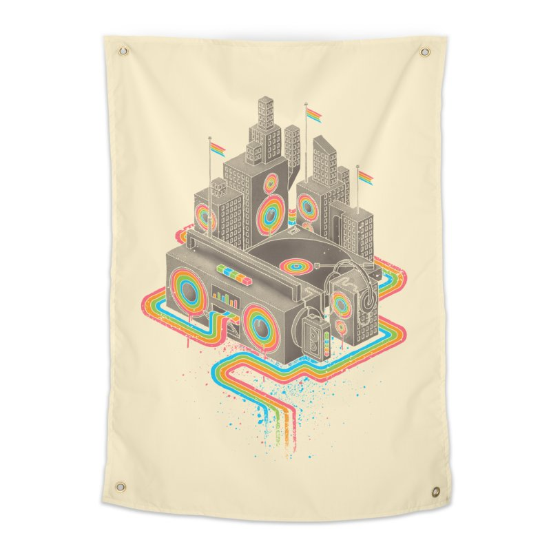 Funk City Home Tapestry by David Maclennan