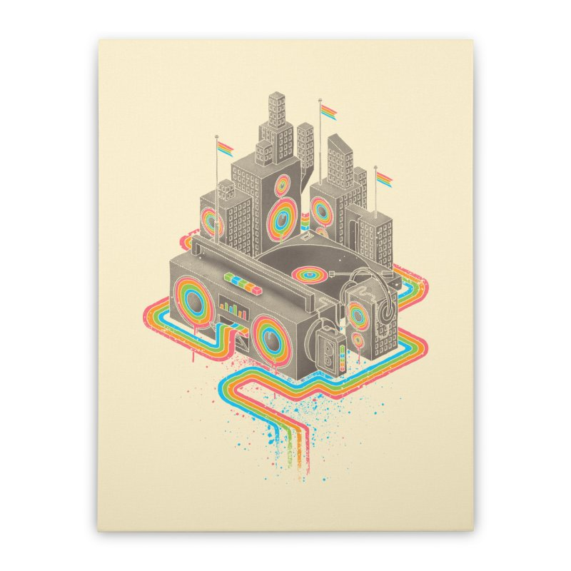 Funk City Home Stretched Canvas by David Maclennan