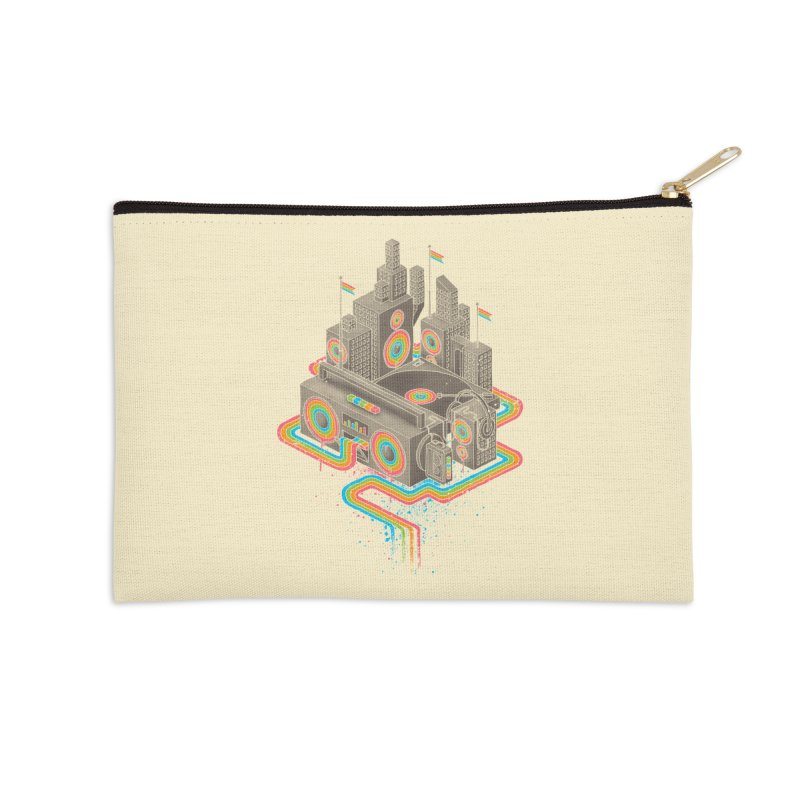 Funk City Accessories Zip Pouch by David Maclennan