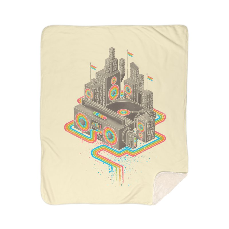 Funk City Home Sherpa Blanket Blanket by David Maclennan