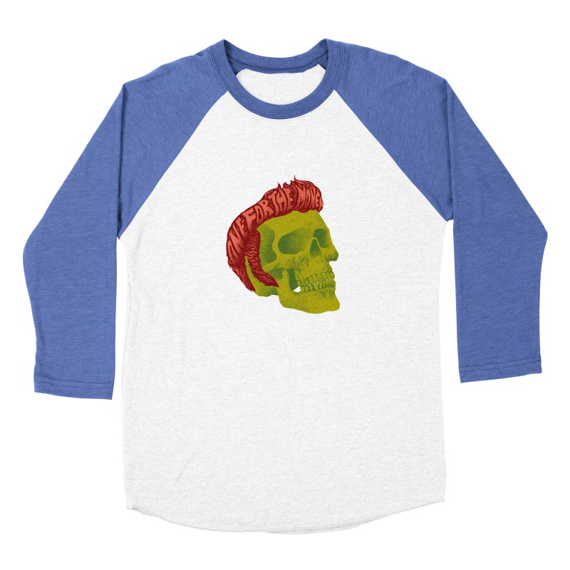 The King Women's Baseball Triblend Longsleeve T-Shirt by David Maclennan