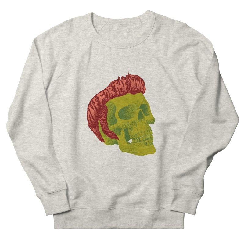 The King Women's French Terry Sweatshirt by David Maclennan