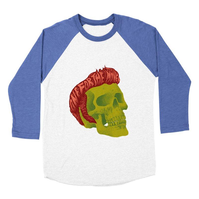 The King Women's Baseball Triblend T-Shirt by David Maclennan