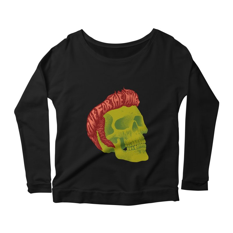 The King Women's Scoop Neck Longsleeve T-Shirt by David Maclennan