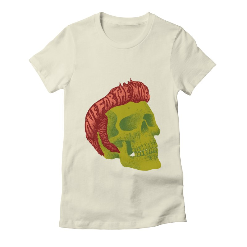 The King Women's Fitted T-Shirt by David Maclennan
