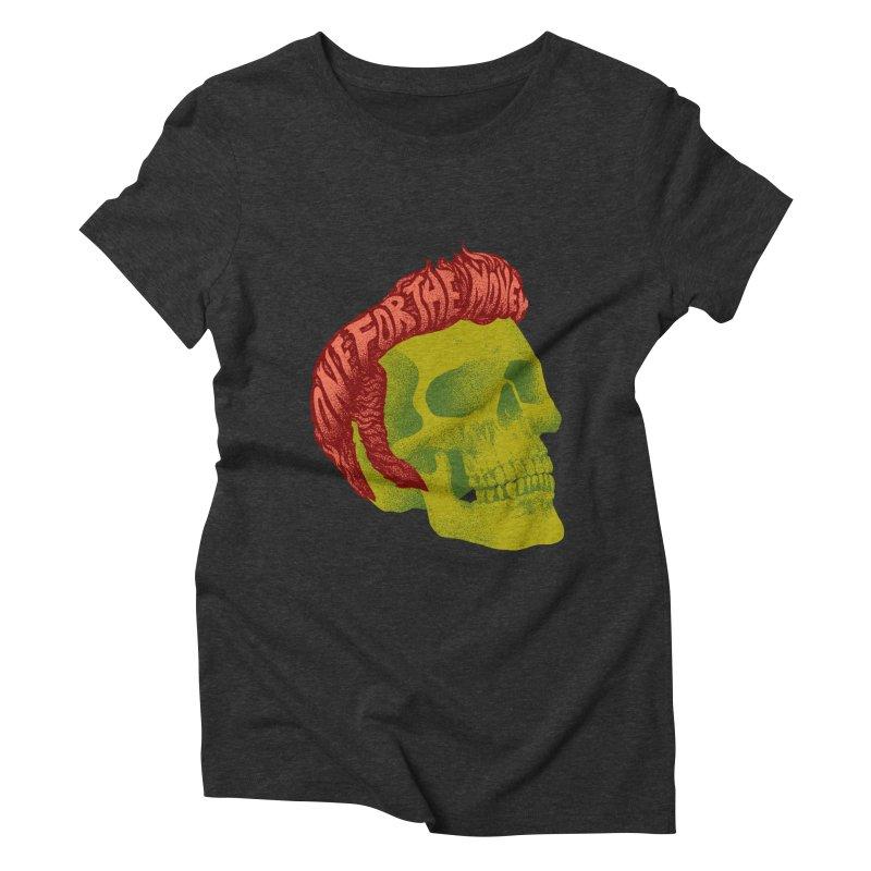 The King Women's Triblend T-Shirt by David Maclennan