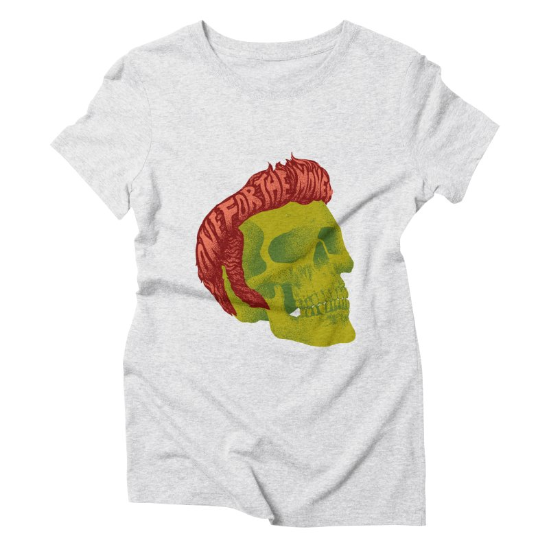 The King Women's Triblend T-Shirt by David Maclennan
