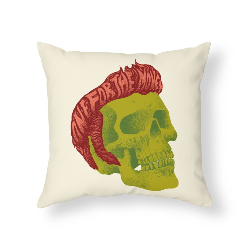 The King Home Throw Pillow by David Maclennan