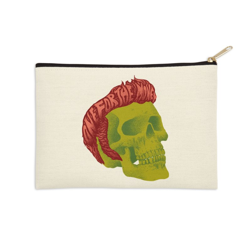 The King Accessories Zip Pouch by David Maclennan