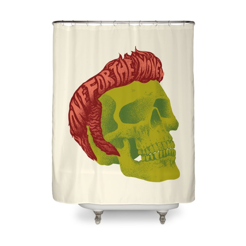 The King Home Shower Curtain by David Maclennan