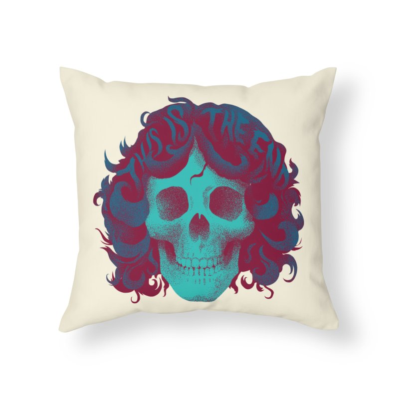 Jim Home Throw Pillow by David Maclennan