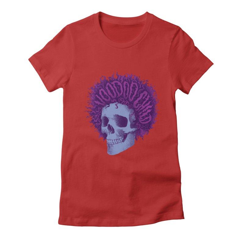 Jimi Women's Fitted T-Shirt by David Maclennan