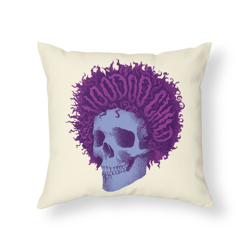 Jimi Home Throw Pillow by David Maclennan