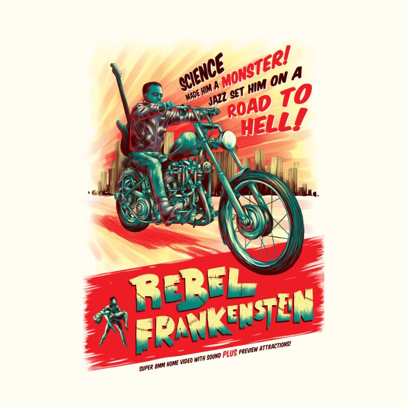 Rebel Frankenstein Home Fine Art Print by David Maclennan