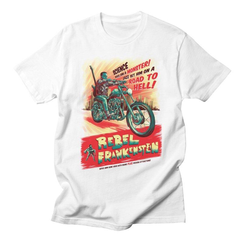 Rebel Frankenstein Men's T-Shirt by David Maclennan
