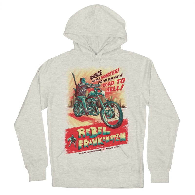 Rebel Frankenstein Men's French Terry Pullover Hoody by David Maclennan