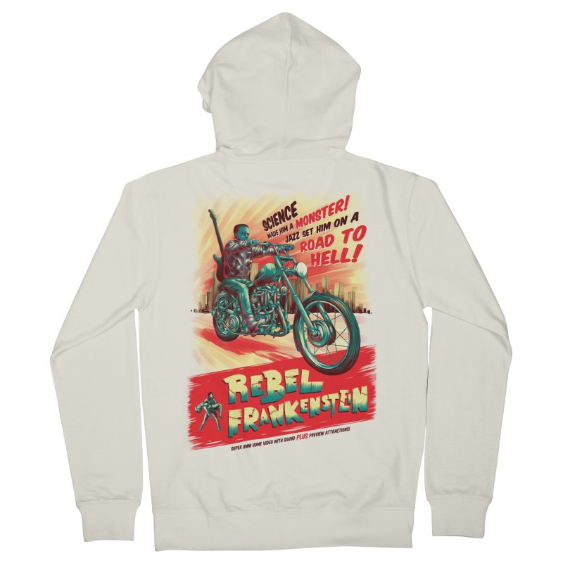 Rebel Frankenstein Men's French Terry Zip-Up Hoody by David Maclennan
