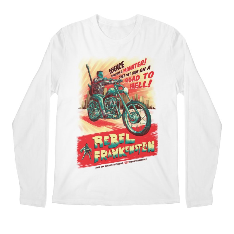 Rebel Frankenstein Men's Regular Longsleeve T-Shirt by David Maclennan