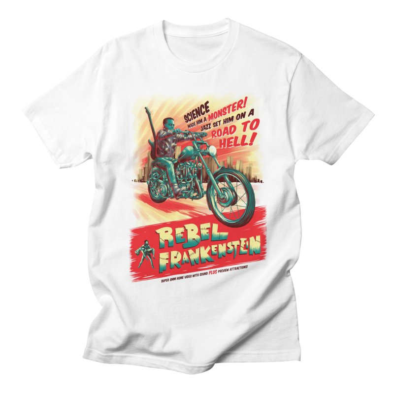 Rebel Frankenstein Men's Regular T-Shirt by David Maclennan