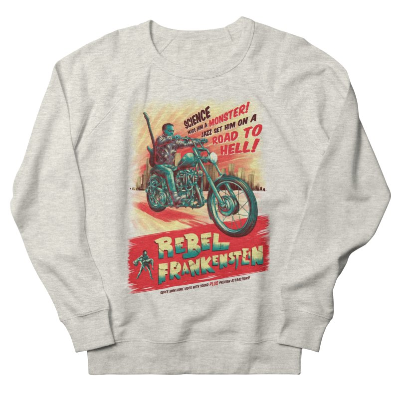Rebel Frankenstein Men's French Terry Sweatshirt by David Maclennan