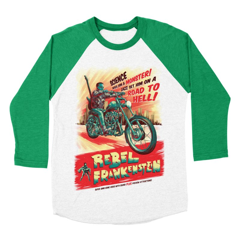 Rebel Frankenstein Men's Baseball Triblend Longsleeve T-Shirt by David Maclennan